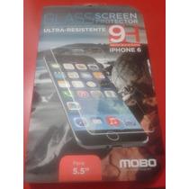 Protector Pantalla De Vidrio Templado Mobo Iphone 6 Y 6 Plus