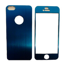 Sticker Protector Metalico Iphone 5 Azul Metalico
