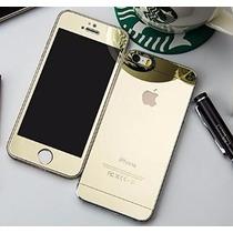 Mica Espejo Doble Cristal Templado Dorado Iphone 6 2x1