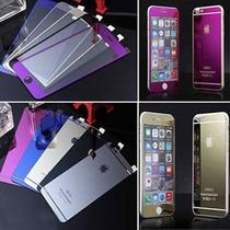 Micas Cristal Templado Iphone 5-6+ Frontal Y Trasera Colores
