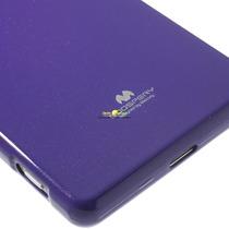 Funda Morada Goospery Jelly Case Sony Xperia C5 + Cristal