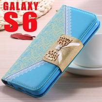 Funda Cartera Tipo Vintage Samsung Galaxy S6 Con Cadena.