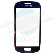 Cristal Frontal Lens Samsung S3 Mini Azul I8190 Original