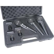 Set De 3 Micrófonos Behringer Xm1800s - Envio Gratis