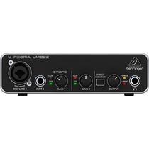 Interfase Usb Micrófono E Instrumento Behringer Umc22