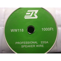 Rollo Cable De Bocina 2x22 Polarizado 305m