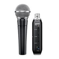 Microfono Shure Sm58x2u Y Adaptador Xlr-usb