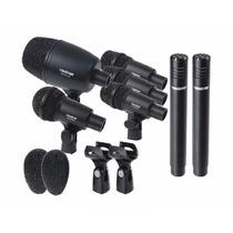 Set De 7 Micrófonos Para Batería Con Estuche Y Cuellos.