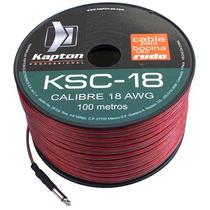 Cable Para Bocina Uso Rudo Polarizado Calibre 18 100 Mts