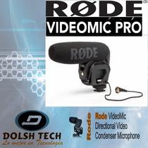 Nuevo Microfono Rode Videomic Pro Shotgun Para Dslr Videocam