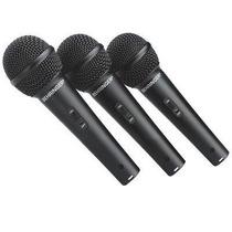 Kit 3 Microfonos Behringer Ultravoice Xm1800s Dinamicos Vbf