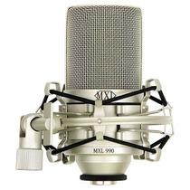 Microfono De Condensado Mxl 990 Con Suspensión Incluida