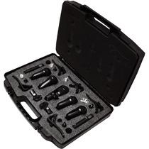 Kit Profesional De 7 Microfonos Para Bateria Con Accesorios.
