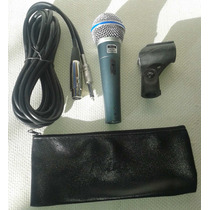 Microfono Mc 58a Rider Tipo Shure Beta 58 Con Cable Remate