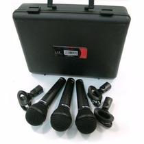 Microfonos Alambricos Proel Dm800kit Misma Calidad Shure Pg