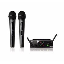 Kit De 2 Microfonos Inalambricos Akg Wms 40+ Envio Gratis