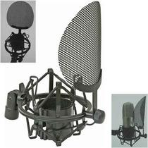 Shockmount Araña Con Filtro Antipop Integrado Para Microfono