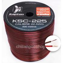 Cable Para Bocina Uso Rudo Polarizado Calibre 22 500 Mts