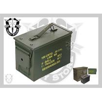 Caja Metálica Mediana De Municiones,militar,hermética,army