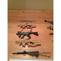 Armas A Escala 3x120 Para Soldados Tipo Gi Joe