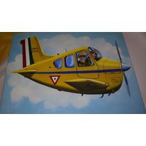 Pintura Al Óleo Fuerza Aérea Mexicana Original