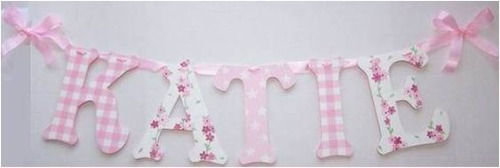 Mis Primeras Letras Para Decorar El Cuarto Del Bebe