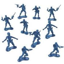 Bolso Grande De Soldados De Juguete Azul Del Ejército De Plá