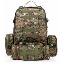 Mochila Tipo Militar Tactica 50 L Camuflaje Sel Con 3 Bolsas