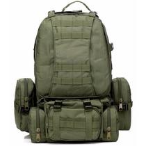 Mochila Tipo Militar Tactica 50 L Con 3 Bolsas