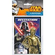 Star Wars Invitaciones [8 Por Paquete]