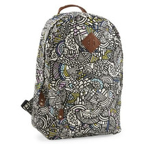Aeropostale Womens Geometric Doodles Backpack Mochila