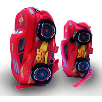 Mochila Cars Premium 3d Kinder Y Primaria Nueva Original