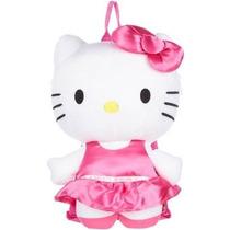 Mochila Hello Kitty Satinado Vestido De Felpa Mochila