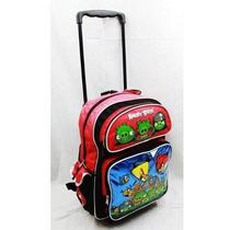 Mochila Angry Birds Large 16 \mochila Con Ruedas - Azul Metá
