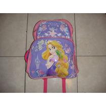 Mochila Grande Escolar Disney Princesas Original Rapunzel