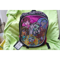 Mochila Monster High Draculaura Abbey Frankie Loba Ghoulia