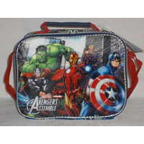 Vengadores Avengers Lonchera Escolar Con Correa Ajustable .
