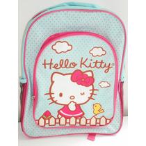 Hermosa Mochila Grande Hello Kitty! Nueva Con Etiqueta