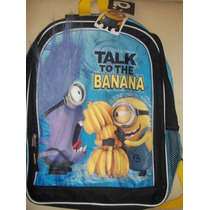 Backpack Mochila Villano Favorito Minion Banana