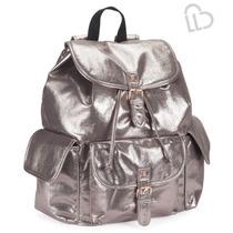 Aeropostale Mochila Oro Ldd Shimmer Backpack, 100% Original
