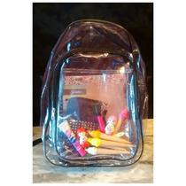 Mochila Bag Plastico Transparente Moda Retro 90