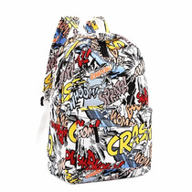 Mochila Escolar Moda Graffiti Punk