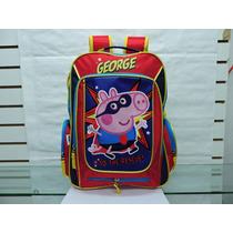Mochila Escolar Super George Peppa Pig Kinder
