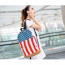Mochila Bandera De Estados Unidos Bandera Usa Lona Durable