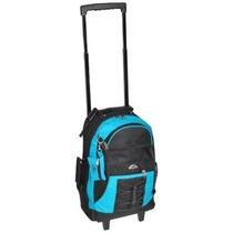 Mochila Everest Ruedas Azul Con Negro
