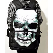 Mochila Escolar Moda Cosplay Skull Punk