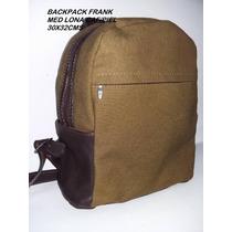 Back Pack Lona Con Piel Buena Clase