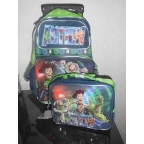 Toy Story Mochila Llantitas Y Lonchera Primaria $1200.00maa