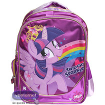 Mochilas My Little Pony Primaria Twiligth, Rainbow, Pinkypie