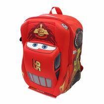 Mochila Escolar Kinder Disney Ruz Cars 3d Rayo Mcqueen